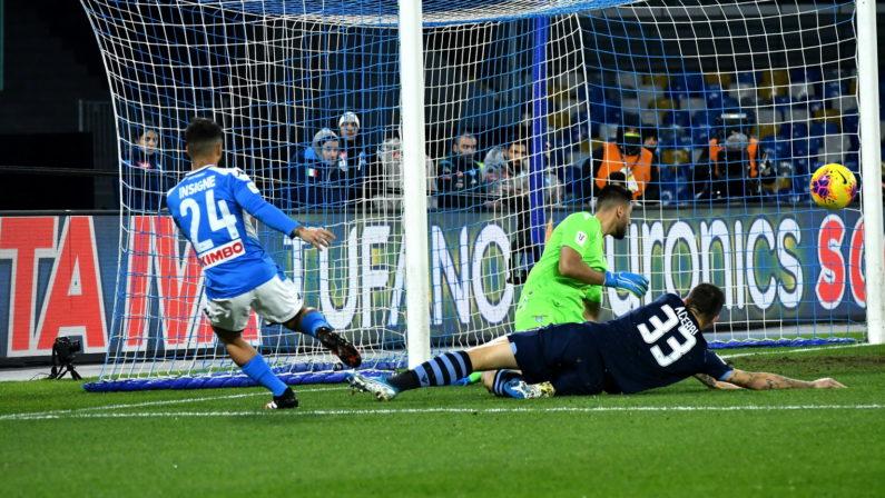 FOTO - Il Napoli vola in Coppa Italia battendo la Lazio, le immagini della vittoria