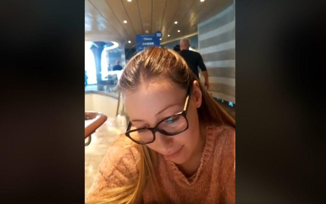 La giovane calabrese bloccata a bordo della Costa Smeralda