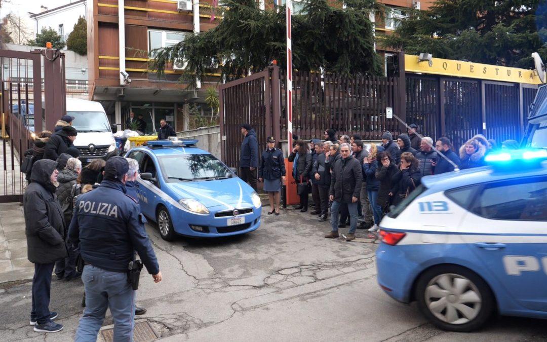 Gli arresti dopo i fatti del 19 gennaio a Vaglio di Basilicata (foto Mattiacci)