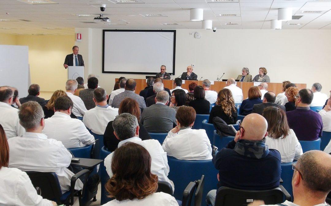 Il governatore Vito Bardi stamattina all'ospedale San Carlo di Potenza