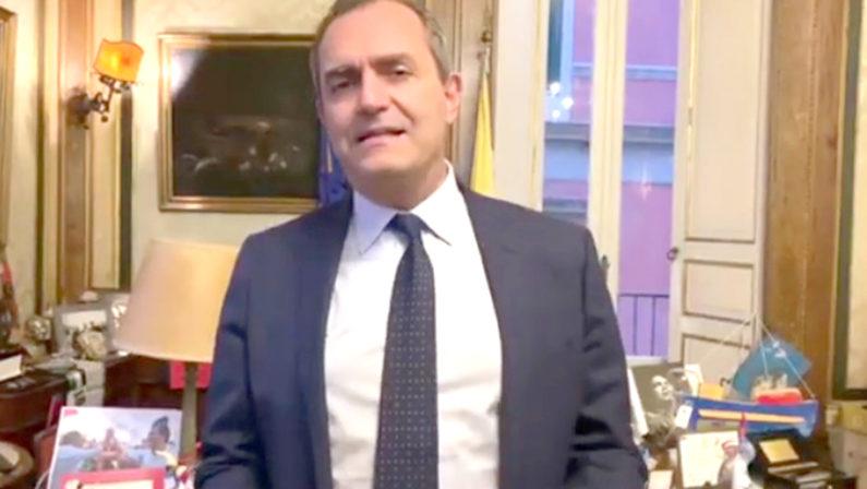 """Covid: De Magistris, """"se fossi stato presidente della Regione avrei utilizzato i fondi per fare più tamponi"""""""