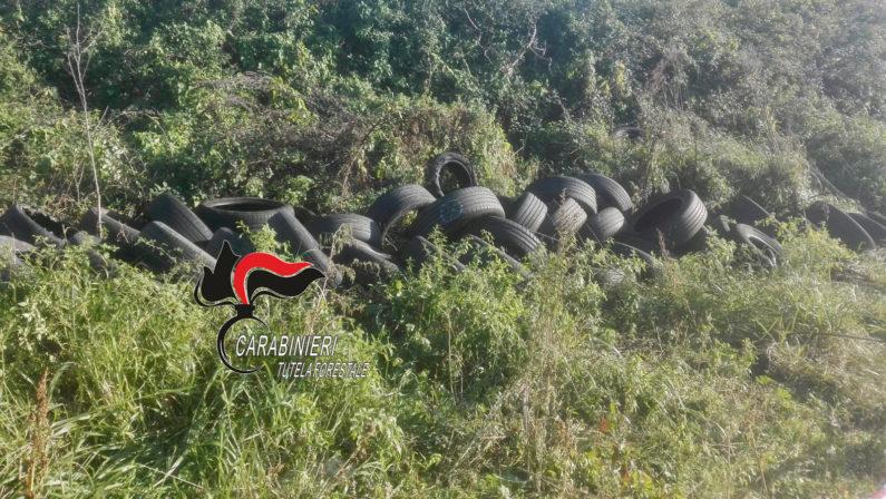 Pomigliano: 200 pneumatici in aperta campagna, titolare di un'officina denunciato