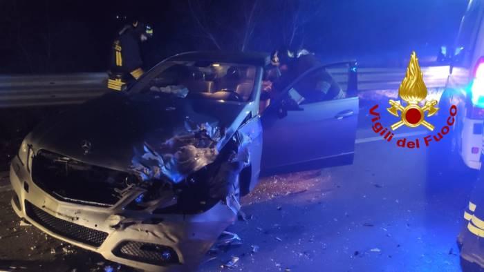 Incidente sull'Ofantina, cinque feriti