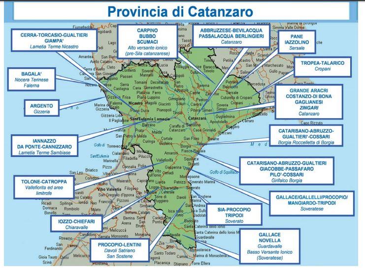 FOTO - Le mappe con tutte le cosche della 'ndrangheta in Calabria - Il  Quotidiano del Sud