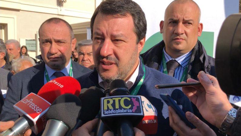 Salvini: «In Calabria esistono le quote tonno e le quote pesce spada». Nuove date del tour elettorale