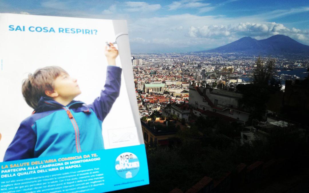 Circa 300 cittadini di Napoli e caserta  diventano sentinelle dell'aria per stimolare le amministrazioni locali nella lotta all'inquinamento
