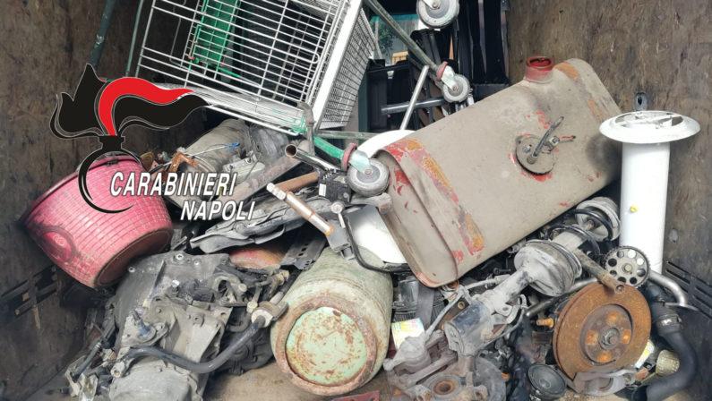 Nola: alla guida con patente contraffatta smaltivano illecitamente rifiuti