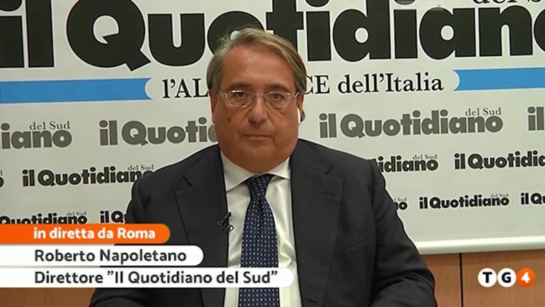VIDEO - Il direttore Napoletano al TG4 mette alla corda il governatore Fontana sullo Scippo al sud