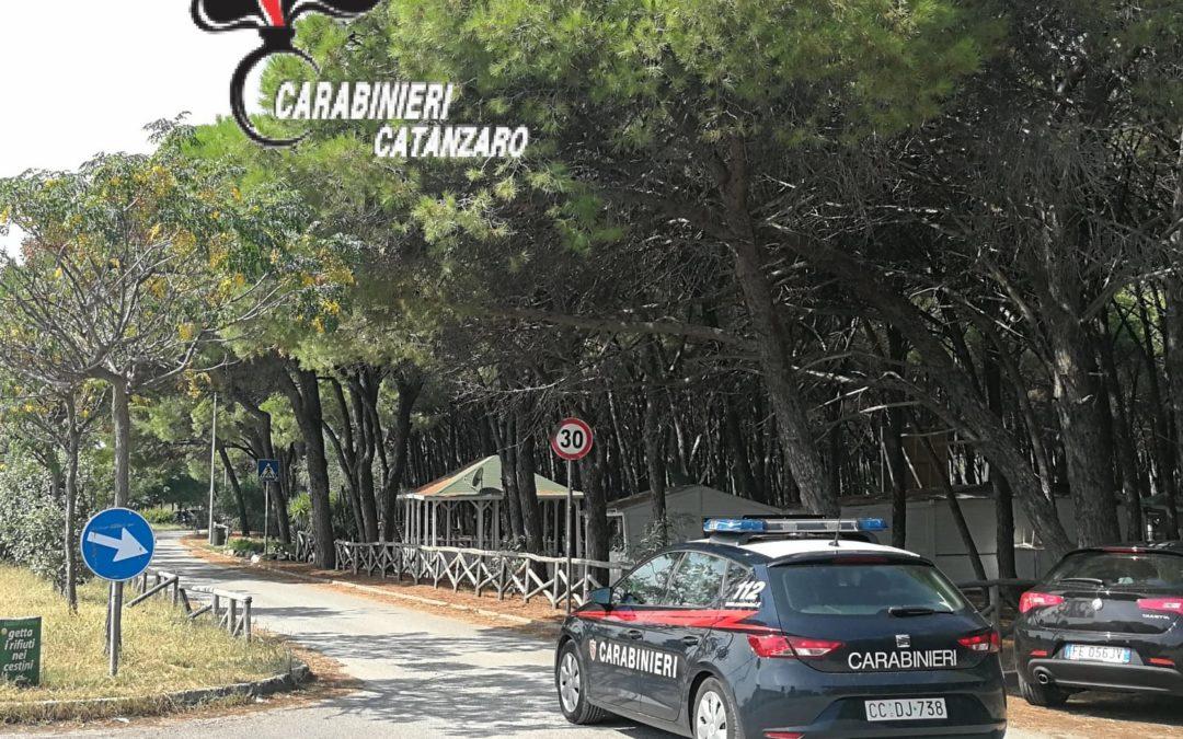 I carabinieri nella zona di Giovino a Catanzaro lido