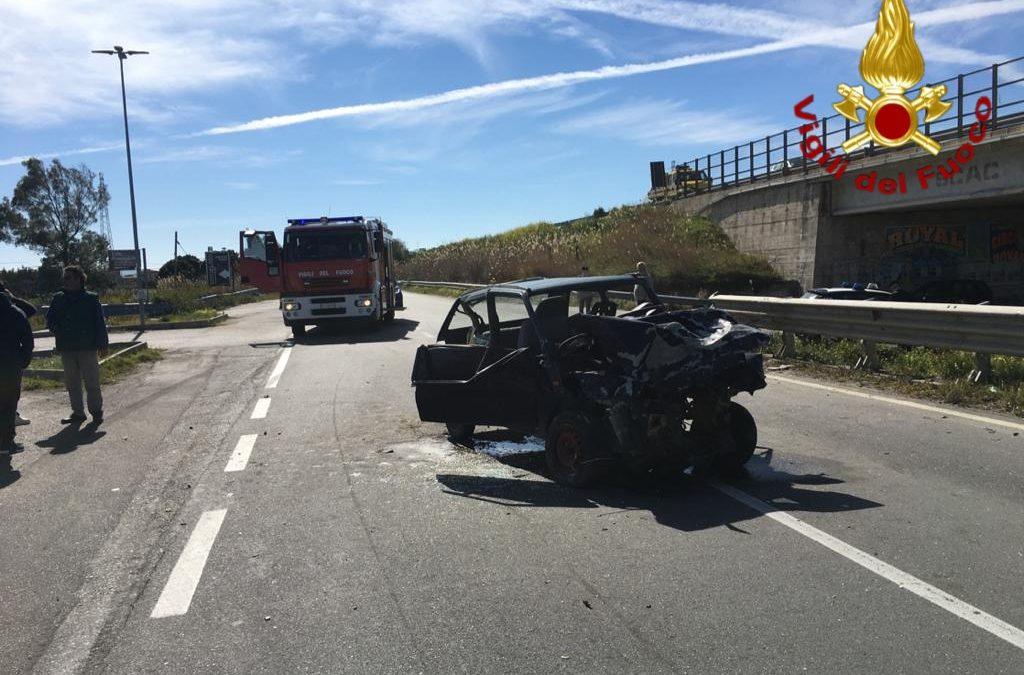 La Fiat Panda coinvolta nell'incidente