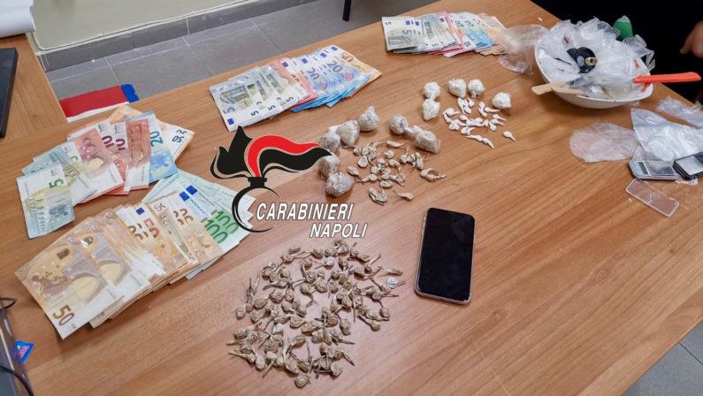 Scampia: arrestate 4 persone, nascondevano droga e denaro in casa