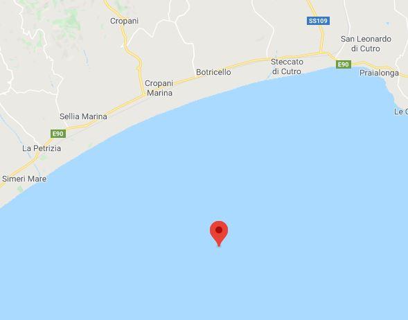Nove scosse di terremoto nel Catanzarese, preoccupazione sulla fascia ionica. Più forte magnitudo 3.4