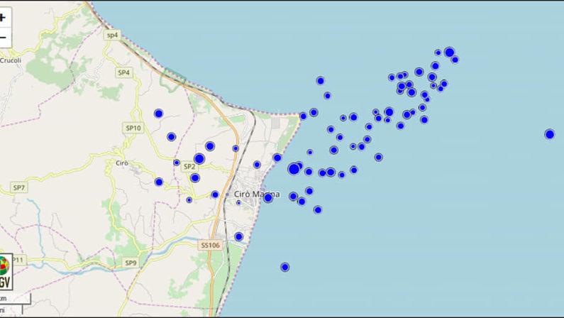 Sciame sismico nel Crotonese, paura per una scossa di magnitudo 3.2