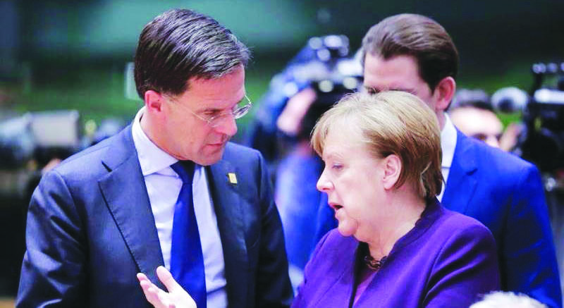 Angela Merkel e il primo ministro olandese Mark Rutte