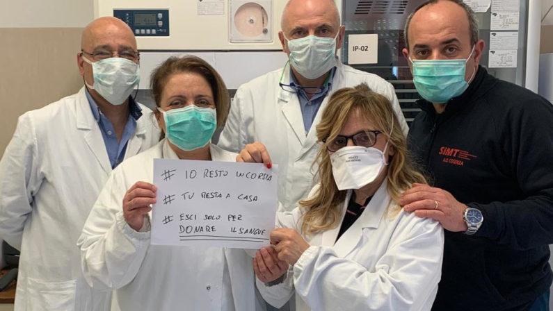 Donazioni del sangue a picco per l'emergenza Coronavirus: l'appello parte da Cosenza