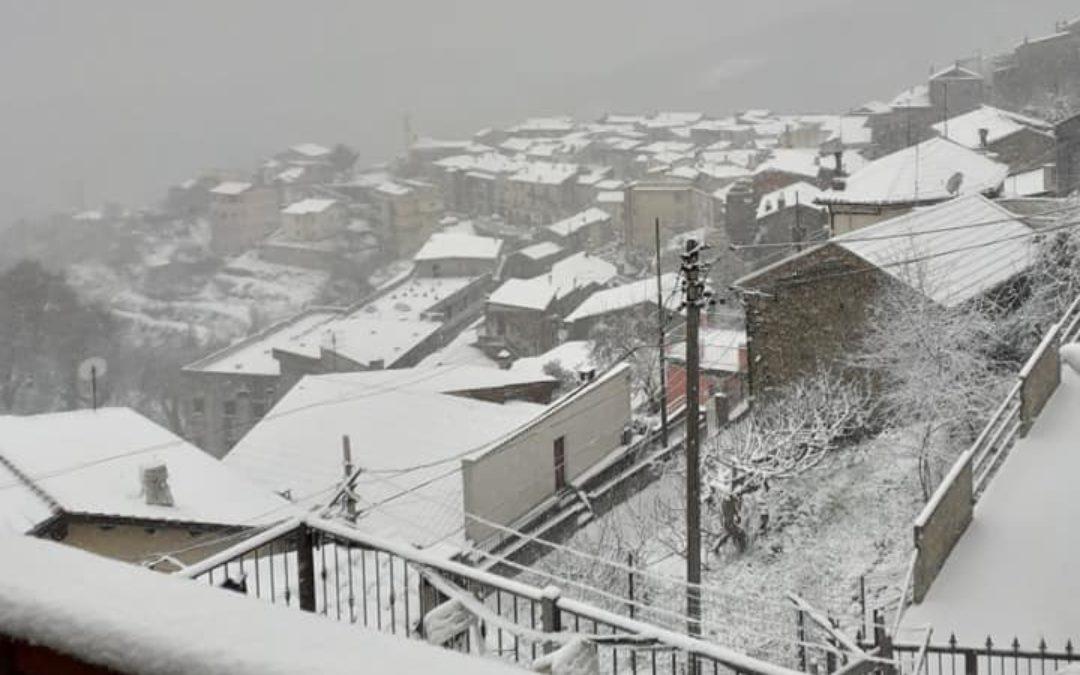 Neve in Presila, l'abitato di Cerva