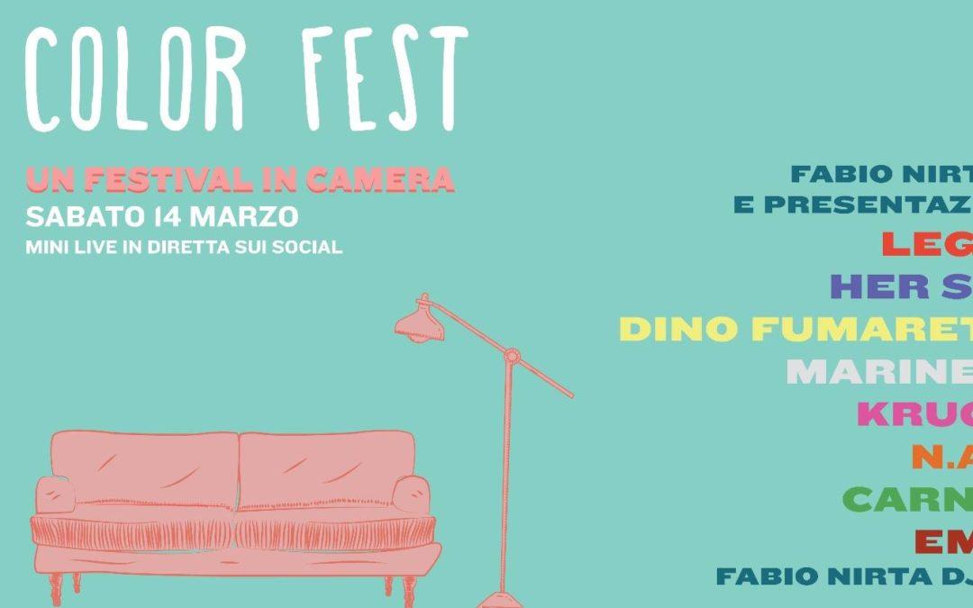 Color Fest, maratona di musica live dai canali social