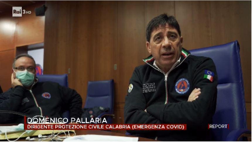 Il dirigente della Protezione civile in Calabria Domenico Pallaria a Report