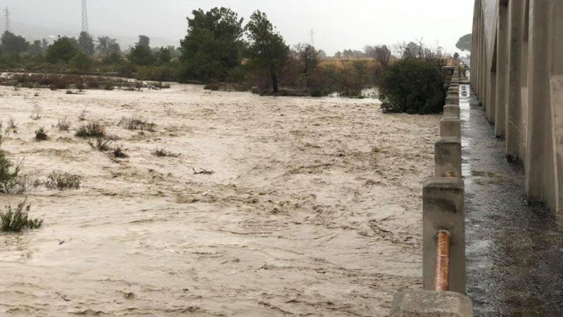 Esonda il fiume Saraceno, chiusa una strada provinciale: l'allarme del sindaco di Trebisacce