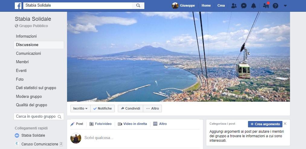 Castellammare di Stabia: nasce un gruppo Facebook per chiedere e offrire aiuto