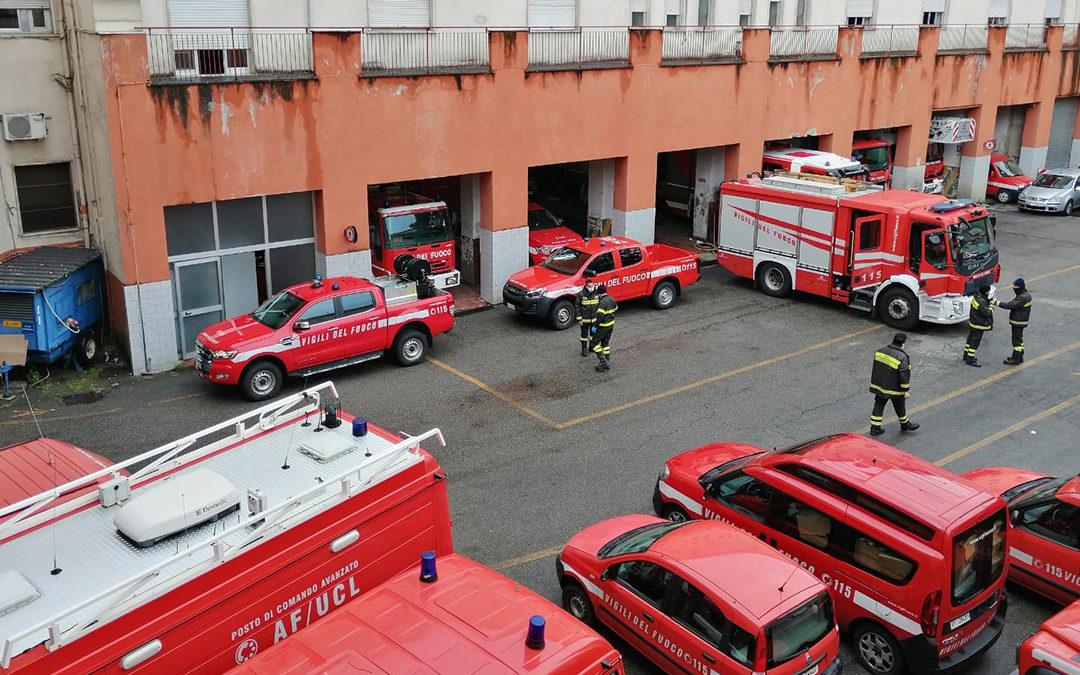 Coronavirus, tornano in servizi i 66 vigili del fuoco costretti alla quarantena a Cosenza