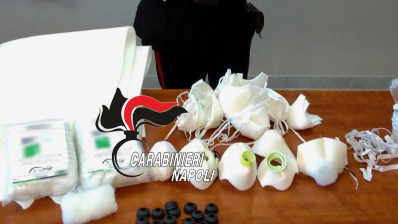 Acerra: produceva mascherine in casa, una denuncia