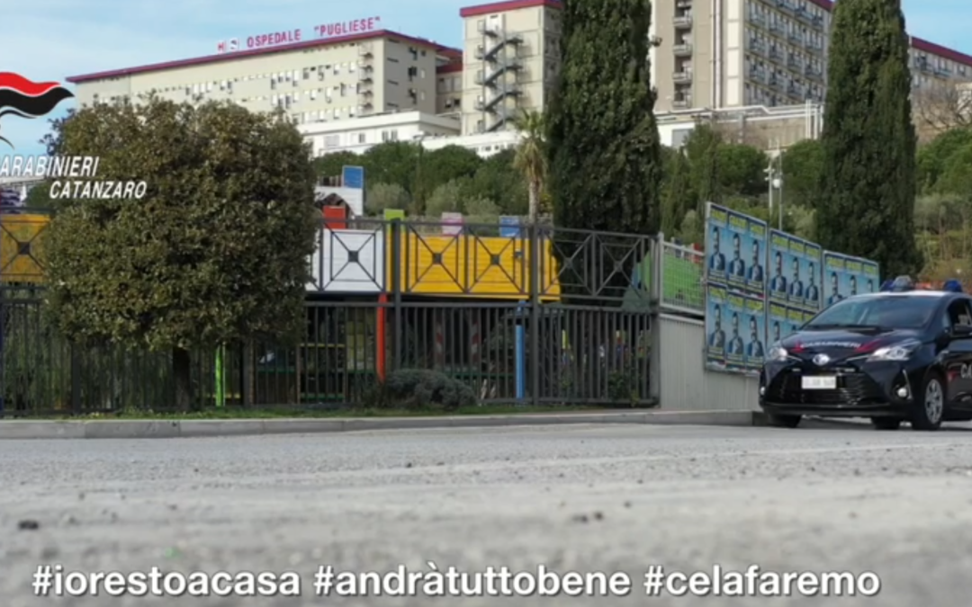 Coronavirus, il video messaggio dei carabinieri di Catanzaro: «Possiamo aiutarvi» – VIDEO