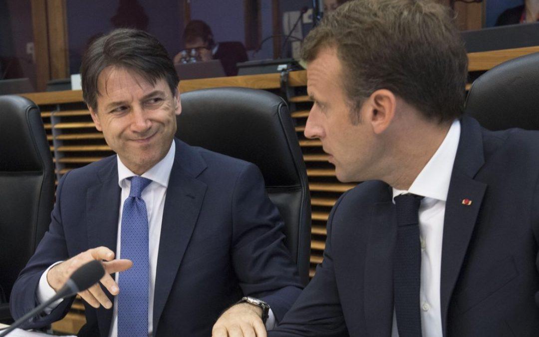 Giuseppe Conte ed Emmanuel Macron