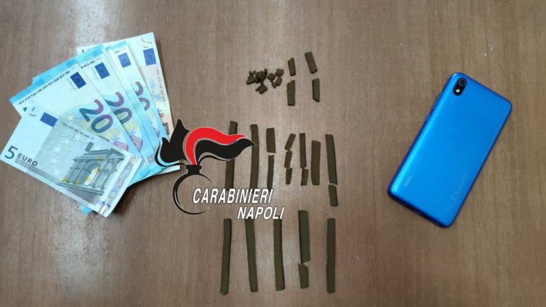 Qualiano: vende hashish in strada, pusher 19enne arrestato