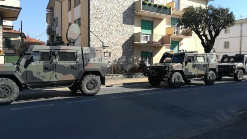 Coronavirus nel Vallo di Diano, in strada l'Esercito