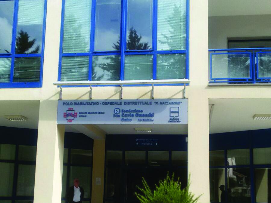 La sede del centro don Gnocchi a Tricarico