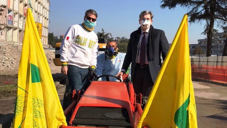 Coronavirus/ Trattori Coldiretti a Napoli per la sanificazione delle strade, poi anche nelle altre province
