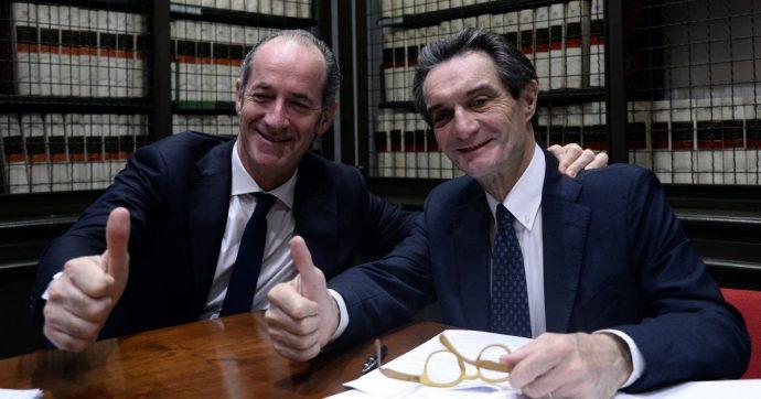 I governatori di Veneto e Lombardia, Zaia e Fontana