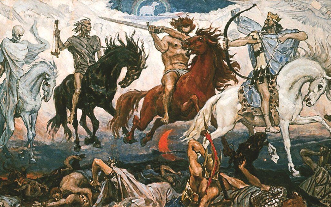 """""""I Quattro Cavalieri dell'Apocalisse"""", 1887, di Victor Vasnetov"""
