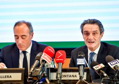 Giulio Gallera, Attilio Fontana