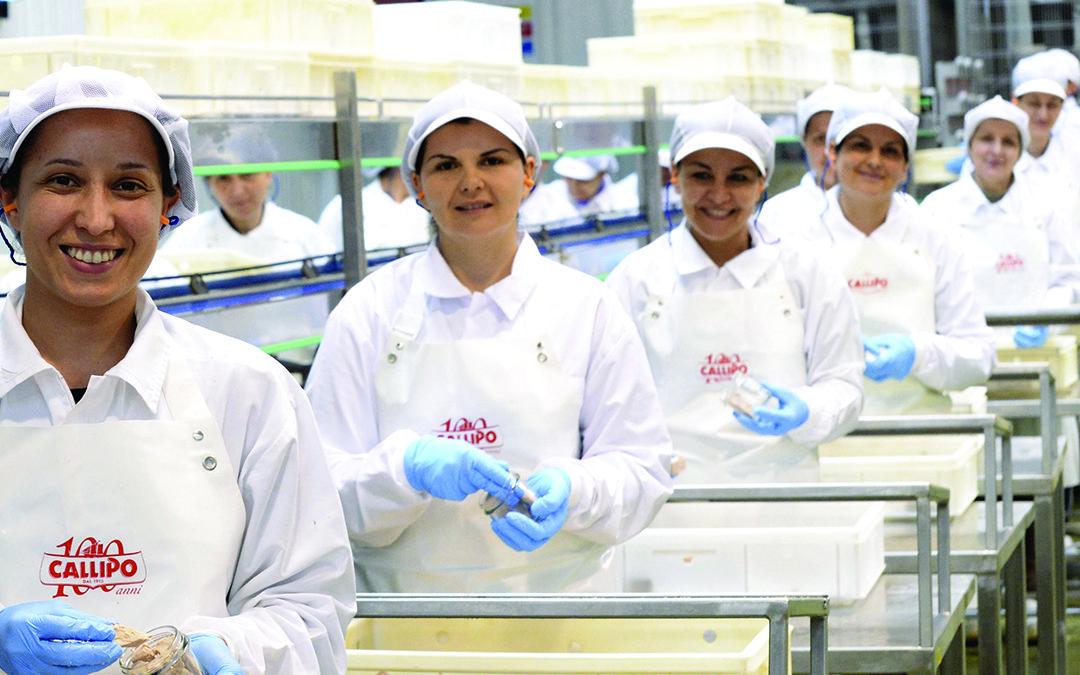 Dipendenti dell'azienda Callipo