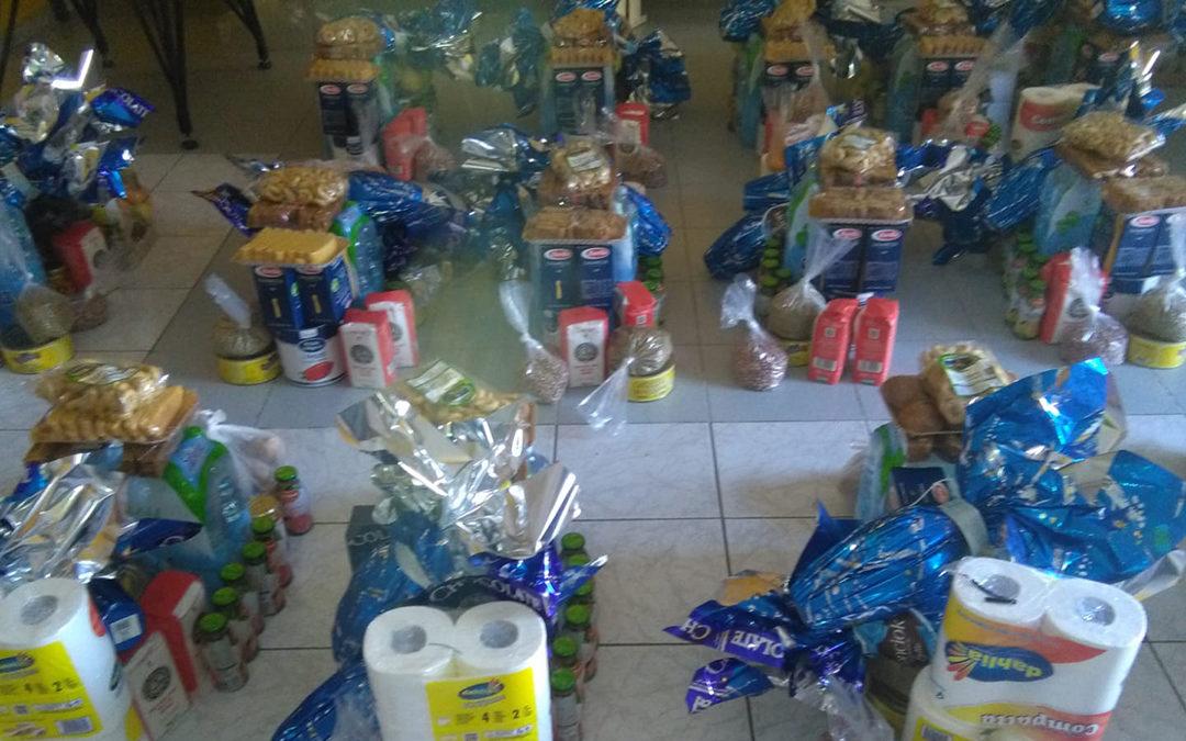 I pacchi preparati dai commercianti di Soriano