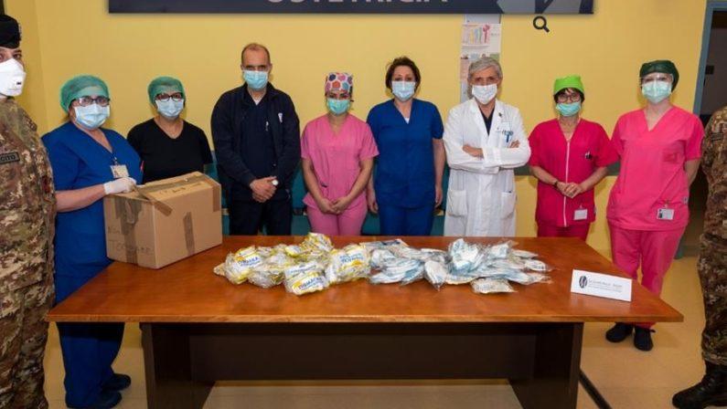 Coronavirus, il 232° Reggimento Trasmissioni di Avellino dona 200 mascherine al Moscati