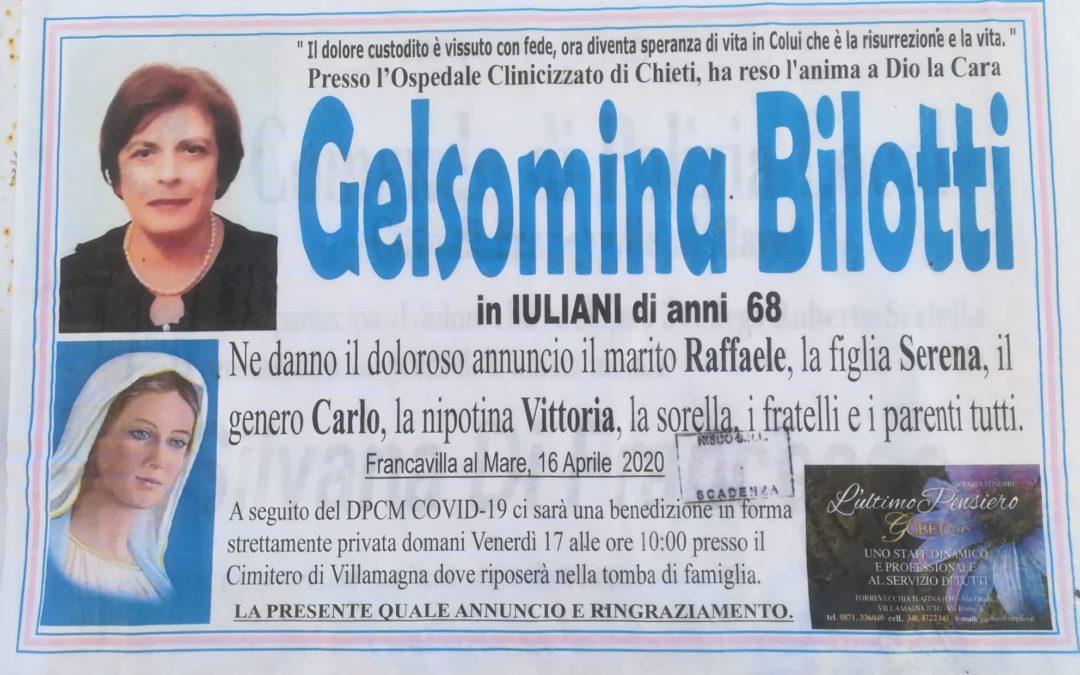 """Il manifesto funebre della donna morta (foto dalla pagina fb dell'istituto comprensivo """"Michetti"""" di Francavilla al Mare (Chieti))"""