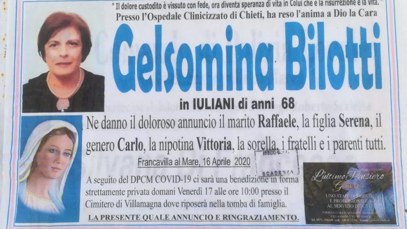 Coronavirus, insegnante lucana muore in Abruzzo