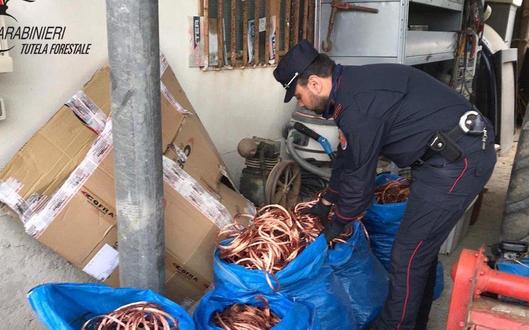 Il rame sequestrato dai carabinieri