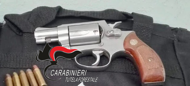 Roccarainola: in montagna con la pistola, arrestato