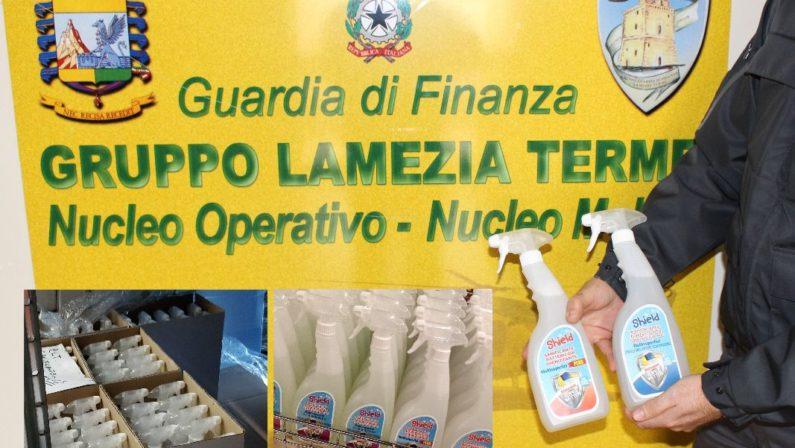 Igienizzante prodotto senza autorizzazioni, sequestri e denunce nel Lametino. Controlli anche nelle farmacie