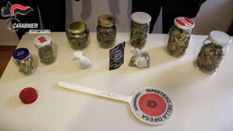 Piana di Gioia Tauro: due arresti per possesso di droga, sequestrati 200 grammi di marijuana e oltre 2 chili di cocaina