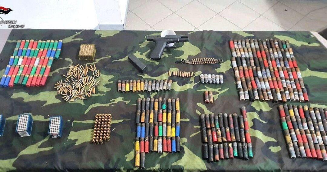Parte delle munizioni ritrovate