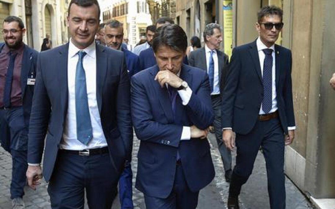 Rocco Casalino e Giuseppe Conte