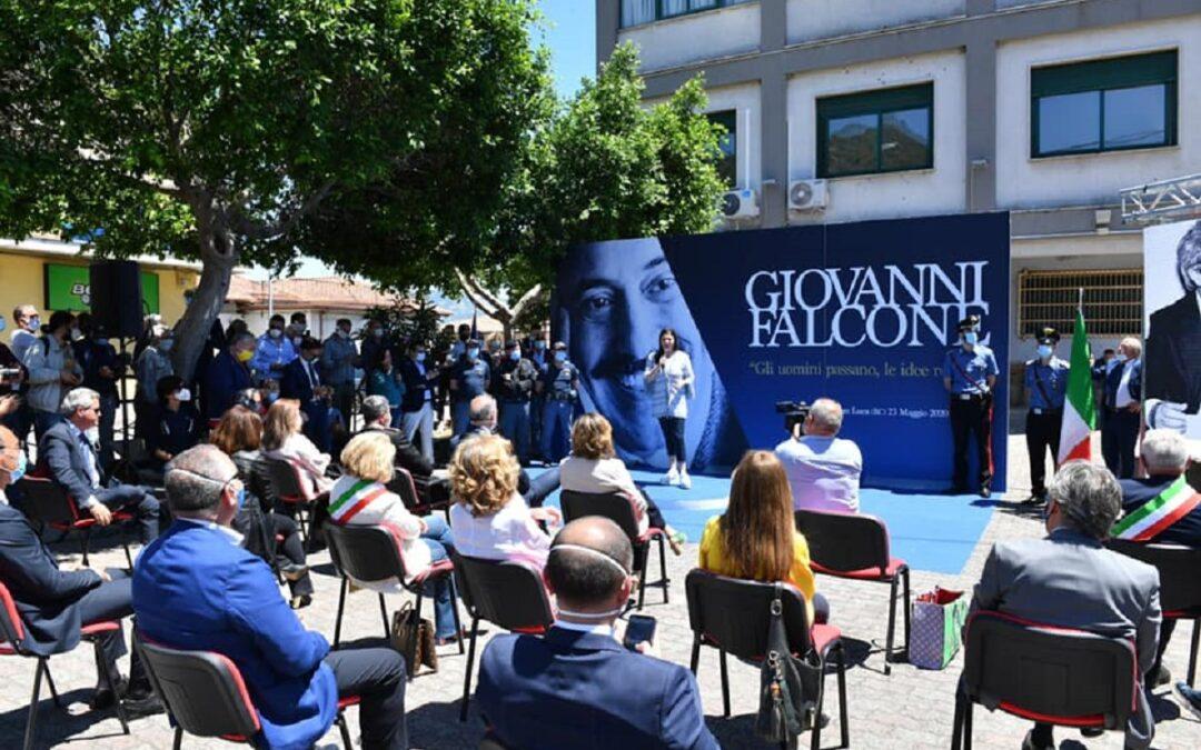 FOTO – La commemorazione a San Luca di Giovanni Falcone nell'anniversario della strage di Capaci