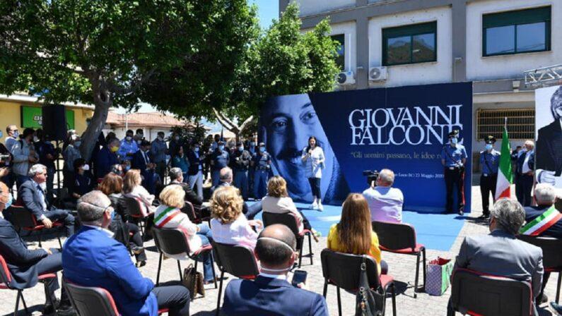 FOTO - La commemorazione a San Luca di Giovanni Falcone nell'anniversario della strage di Capaci
