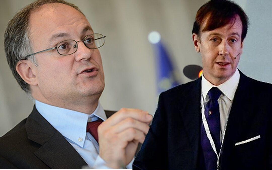 Il ministro Roberto Gualtieri e Fabrizio Palermo (CDP)