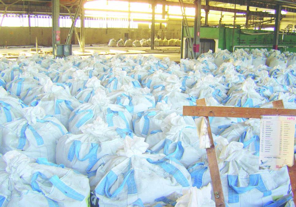I sacchi di amianto nell'ex Materit di Ferrandina